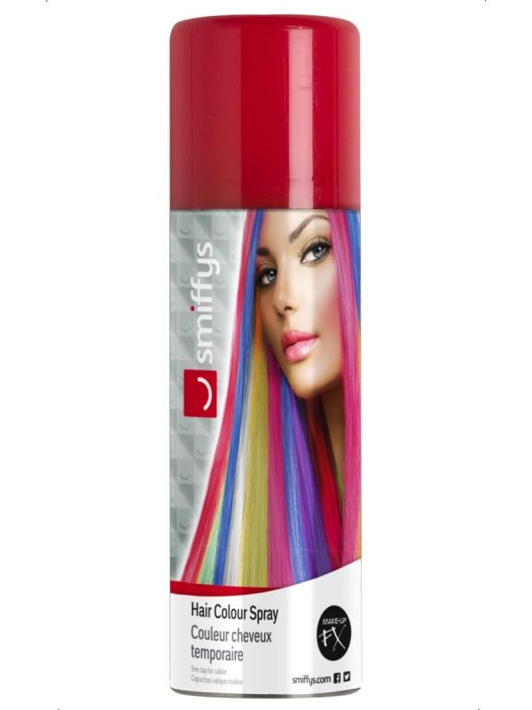 Farebný sprej na vlasy - červený - partydekoracie.sk b2fcf435678